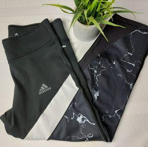 🌼3/$30 Adidas Climalite Black Crop Legging Small